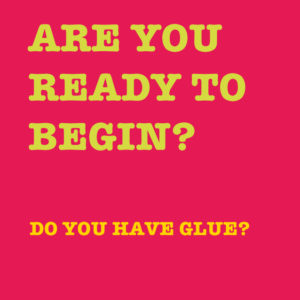 Glue this book. A funny activity book inspired by Montessori materials