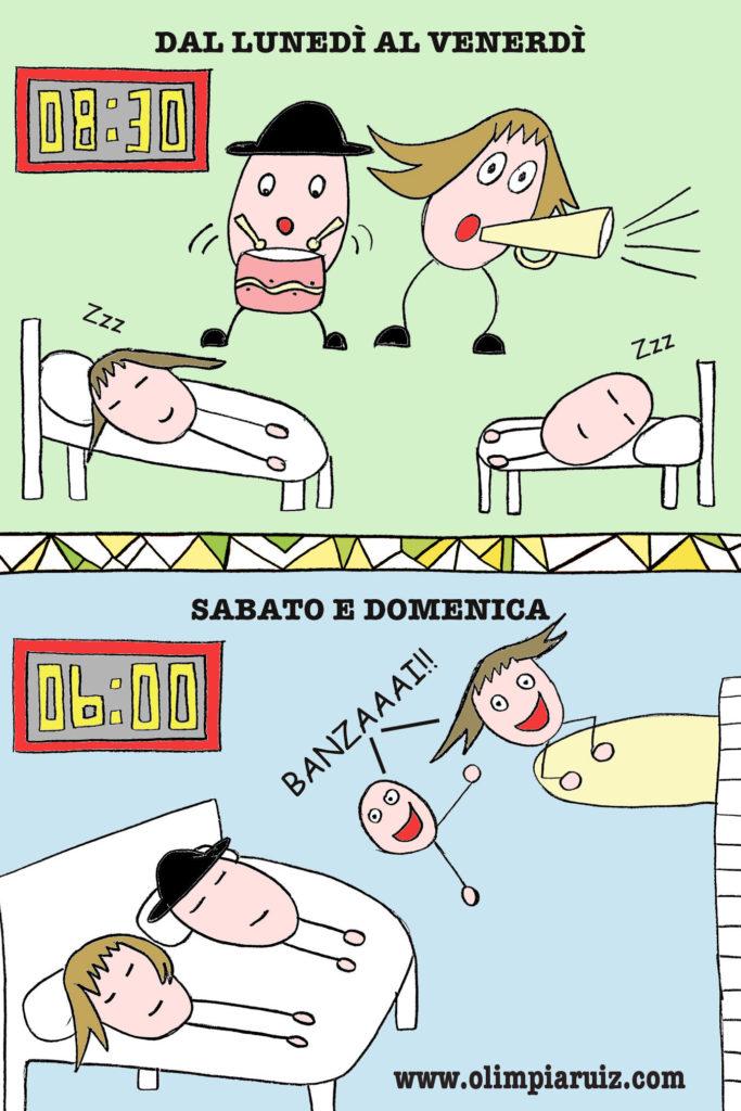 La sveglia - Vignette Olimpia Ruiz