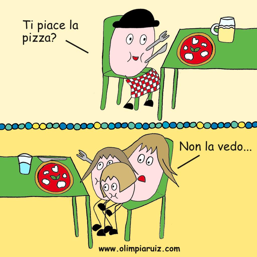 In pizzeria - Vignette Olimpia Ruiz