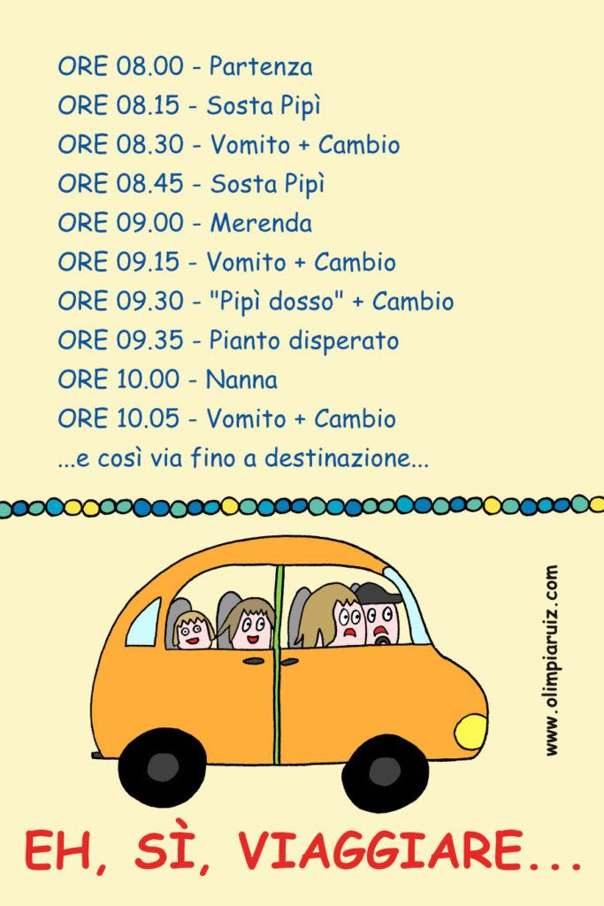 Vignette sulla vita in famiglia - viaggiare