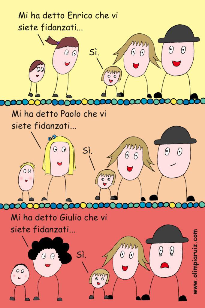 Vignette sulla vita in famiglia - Tre fidanzati