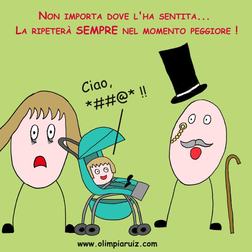 Vignette sulla vita in famiglia - Parolacce