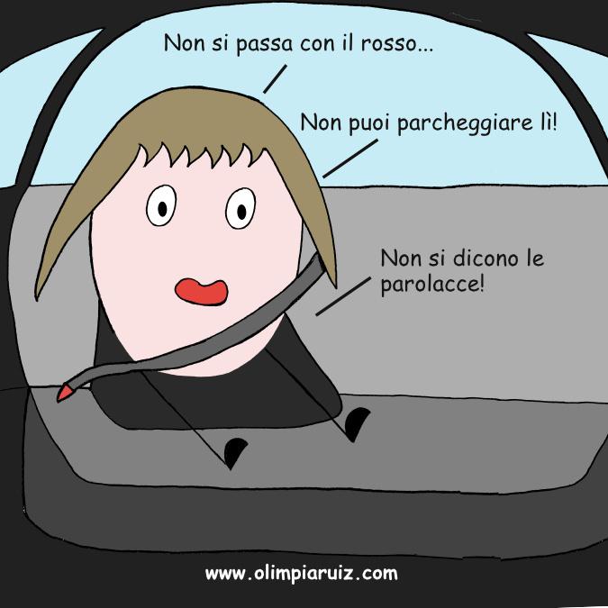 Vignette sulla vita in famiglia - In auto: Non puoi...